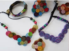 Wool Quilling Jewelry
