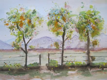 Simple Landscapes in Watercolor