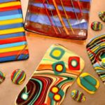 Reactions in Fused Glass