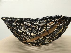 Anne Willson - Black Random Weave Basket