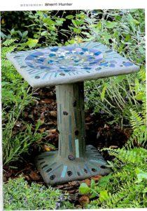 Concrete Garden Art - birdbath