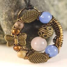 Necklace with Butterfly_Alicia Moya-Mendez