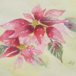 Watercolor Poinsettias_Laura Azzi