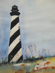 Watercolor Lighthouse_Laura Azzi