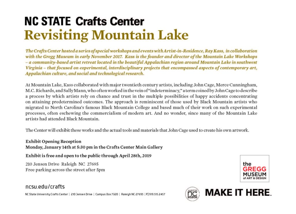 Ray Kass:  Revisiting Mountain Lake Exhibition