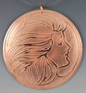 Electro Etched Pendant