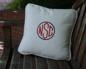 Monogramed Pillow
